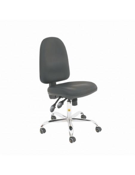 ESD židle Cleanroom vinylová, výška sedáku 50 - 63cm