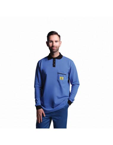 ESD polo tričko s dlouhým rukávem