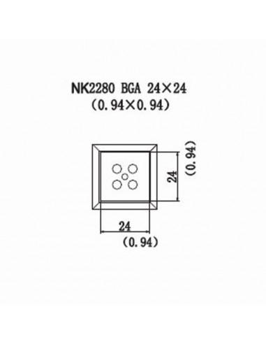 Horkovzdušná tryska NK2280 - BGA 24x24