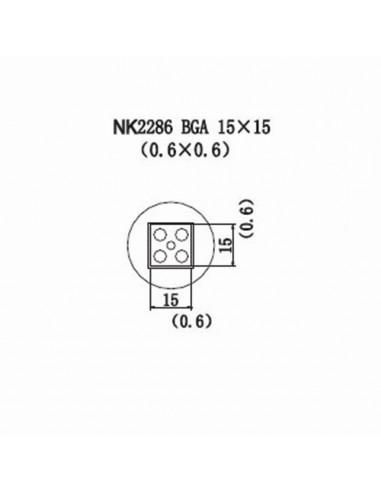 Horkovzdušná tryska NK2286 - BGA 15x15