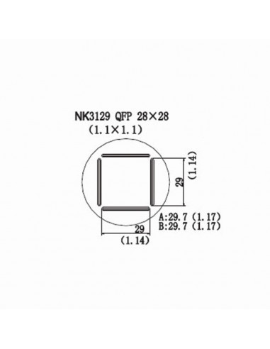 Horkovzdušná tryska NK3129 - QFP 28x28