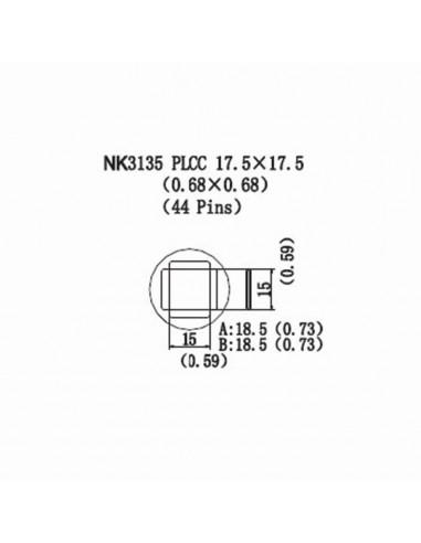 Horkovzdušná tryska NK3135 - PLCC 17,5x17,5