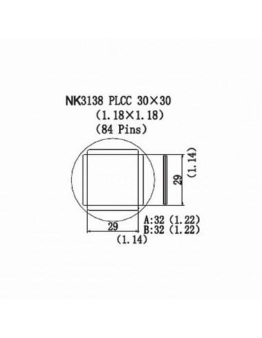 Horkovzdušná tryska NK3138 - PLCC 30x30
