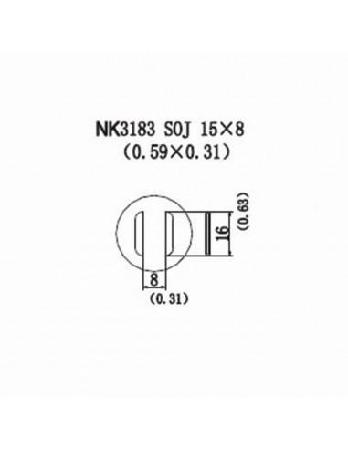 Horkovzdušná tryska NK3183 - SOJ 15x8