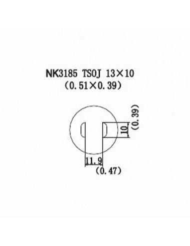 Horkovzdušná tryska NK3185 - TSOJ 13x10