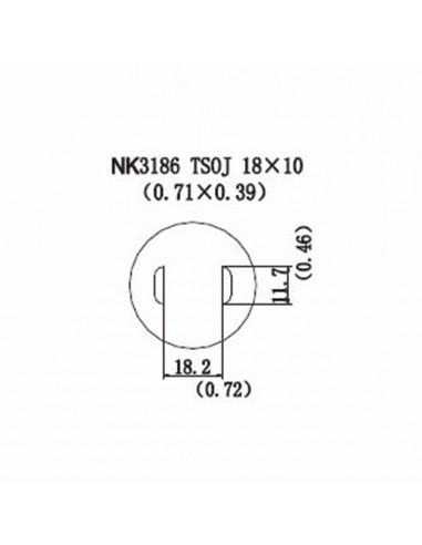 Horkovzdušná tryska NK3186 - TSOJ 18x10