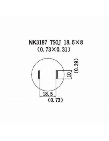 Horkovzdušná tryska NK3187-TSOJ 18,5x8