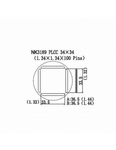 Horkovzdušná tryska NK3189 - PLCC 34x34