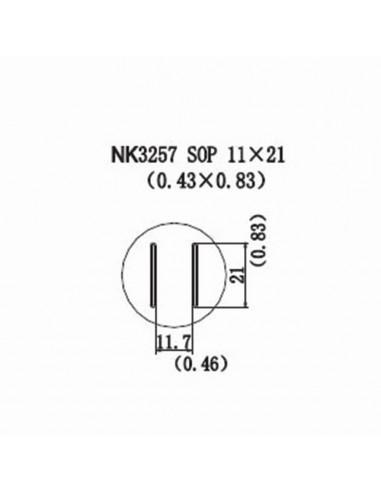 Horkovzdušná tryska NK3257 - SOP 11x21