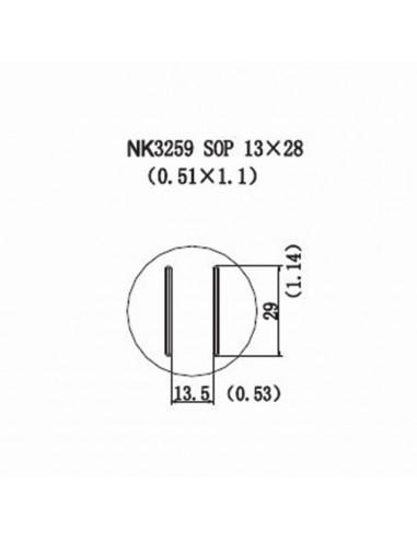 Horkovzdušná tryska NK3259 - SOP 13x28
