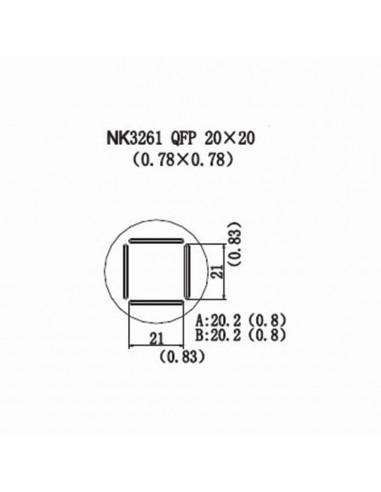 Horkovzdušná tryska NK3261 - QFP 20x20