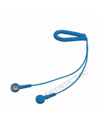 Kroucený kabel s 2x patentem 10 mm