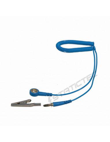 Kroucený kabel s patentem 10 mm a 4 mm banánkem