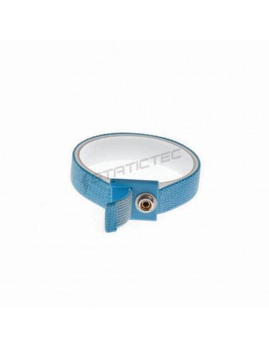 Modrý ESD náramek bez kabelu, patent 10 mm