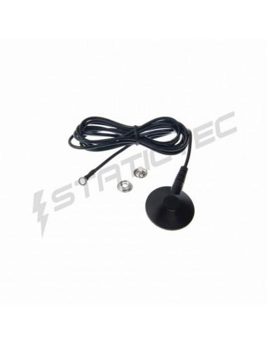 Zemnící kabel k ESD podložce 10 mm patent, 5 mm očko